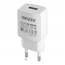 Сетевое зарядное устройство GINZZU GA-3003W белый