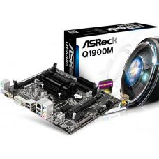 Материнская плата Asrock Q1900M + Celeron J1900 2xDDR3, Intel HD Graphics, 5.1CH, 1000 Мбит/с, USB3.0, D-Sub, DVI, HDMI, mATX RTL