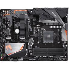 B450 AORUS ELITE, Socket AM4, AMD B450, 4xDDR4-2933, DVI-D+HDMI, 2xPCI-Ex16, 2xPCI-Ex1, 6xSATA3(RAID