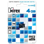 Карта памяти Mirex microSDHC Class 4 4GB
