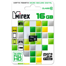 Карта памяти Mirex 16GB microSDHC Class 10