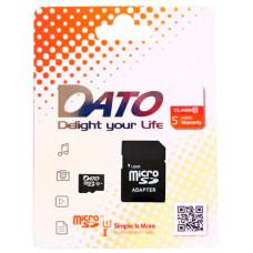 Карта памяти DATO 16GB microSDHC Class 10 UHS-I U1 + SD adapter