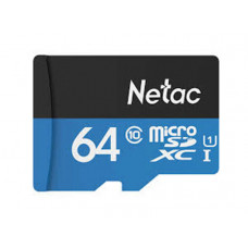 Карта памяти microSDHC Netac 64GB P500 (SD адаптер)
