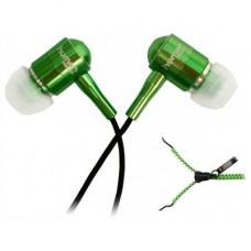 Наушники CBR Human Friends Zipper зеленые