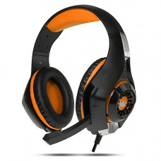 Компьютерная гарнитура CROWN MICRO CMGH-102T Black/Orange