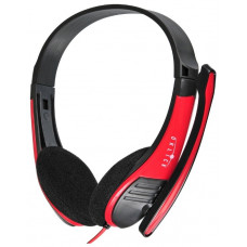 Компьютерная гарнитура OKLICK HS-M150 черный/красный