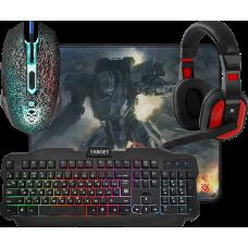 Игровой набор Defender Target MKP-350 Мышь + Клавиатура + Гарнитура+ Ковер