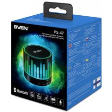 Колонки SVEN PS -47, черный (3 Вт, Bluetooth, USB, microSD, FM-тюнер, 300мА*ч)