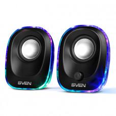 Колонки Sven 330 2.0 черный 5Вт портативные