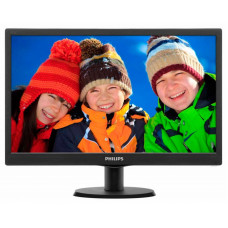"Монитор Philips 18.5"" 193V5LSB2 (10/62) черный TN+film LED 5ms 16:9 матовая 200cd 1366x768 D-Sub 2.1"