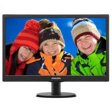 """Монитор Philips 19.5"""" 203V5LSB2 (10/62) черный TN+film LED 5ms 16:9 600:1 200cd 1600x900 D-Sub HD RE"""