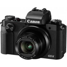 "Фотоаппарат Canon PowerShot G5 X черный 20.2Mpix Zoom4.2x 3"" 1080p SDXC/SD/SDHC CMOS IS opt 5minF ro"