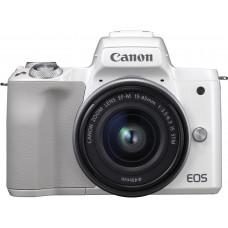 "Фотоаппарат Canon EOS M50 белый 24.1Mpix 3"" 4K WiFi 15-45 IS STM LP-E12"