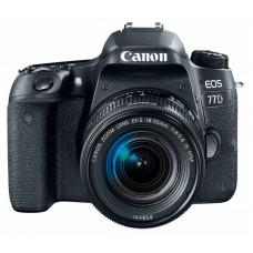 """Зеркальный Фотоаппарат Canon EOS 77D черный 24.2Mpix EF-S 18-55mm f/3.5-5.6 IS STM 3"""" 1080p Full HD"""