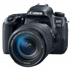"""Зеркальный Фотоаппарат Canon EOS 77D черный 24.2Mpix EF-S 18-135mm f/3.5-5.6 IS USM 3"""" 1080p Full HD"""