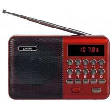 Радиоприемник Perfeo Palm, usb, microSD, mp3, УКВ, FM, цифровой - красный