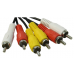 Кабель соединительный Telecom TAV7150-1.5M 3xRCA (M) - 3xRCA (M), 1,5m