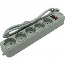 Сетевой фильтр Exegate SP-5-1.5G (5 розеток, 1.5м, евровилка, светло-серый) EX266862RUS
