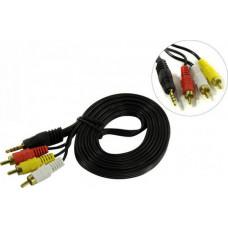 Exegate EX284945RUS Кабель аудио ExeGate EX-CCA-4P2R-2.0 (3.5mm Jack M/3xRCA M, 2м)