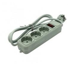 Сетевой фильтр Exegate SP-3-1.8G 3 розетки, 1.8м, евровилка, серый (EX221177RUS)