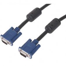 Кабель монитор - SVGA card (15M -15M) 1.8м 2 фильтра Exegate позолоченные разъемы, экранирование