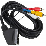 Кабель аудио-видео Ningbo SCART (m)/3хRCA (m) 3м. черный (JSC005-3)