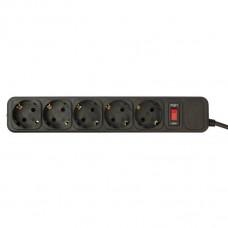 Сетевой фильтр PC Pet AP01006-3-BK 3м (5 розеток) черный