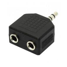 Переходник разветвитель аудио VCOM 3.5 Jack (M) - 2x3.5 Jack (F), стерео