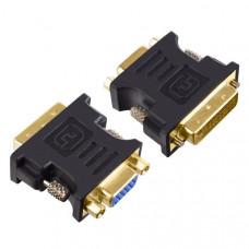 Переходник Perfeo VGA/SVGA розетка - DVI-D вилка (A7019)